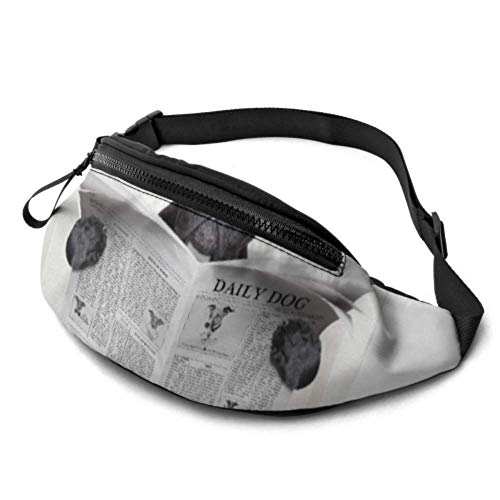 QIYI Womens Fanny Pack French Bulldog Dog Sitting On Toilet Travel Fanny Pack with Headphone Jack and Adjustable Straps Waist Packs Women for Travel Sports Hiking