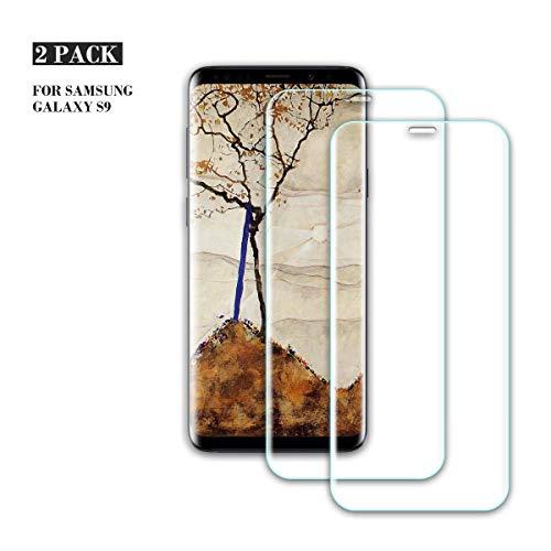 ZOLMAG Galaxy S9 Panzerglas Schutzfolie, [2 Stück] Ultra-klar, Bruchsicher, 9H Anti-Kratzen Härtegrad Displayschutzfolie, Blasenfreie Panzerglasfolie für Samsung Galaxy S9(Transparent)