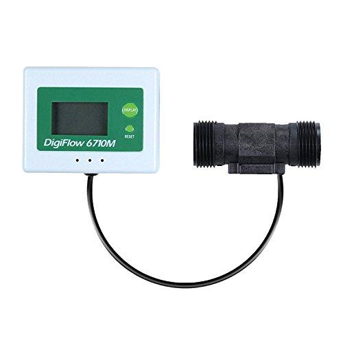 Vyair 2,4 bis 60,0 Liter/Minute DigiFlow 6710M-66 Digitaler Mikrodurchfluss Totalisator (Zähler Aufwärts) und Durchflussmesser mit 3/4