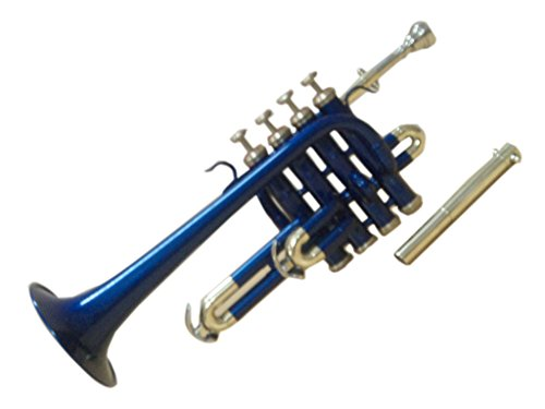 OSWAL Bb/A Blue Brass Finishing Piccolo Trumpet With Free Hard Case+Mouthpiece