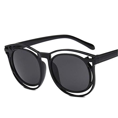 EDCPLM Gafas de sol Hombres Mujeres Adulto Espejo Gafas Venta Ms Color Película Gafas Grandes Gafas De Sol Masculino Restauración Antiguas Formas La Nueva C1 Negro