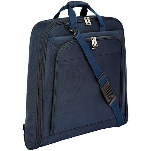 AmazonBasics - Hochwertige Kleidertasche, Marineblau - 1m