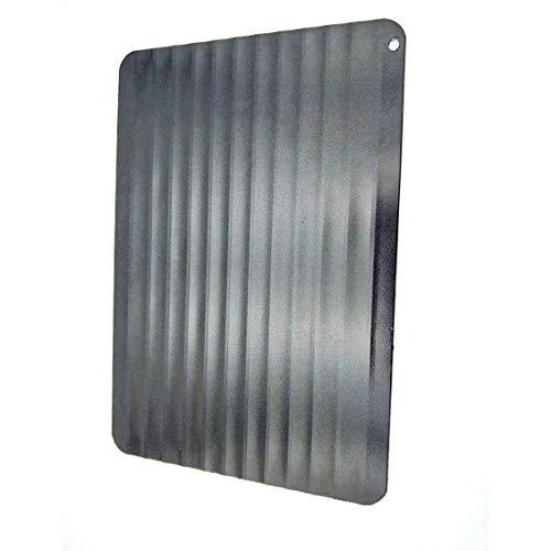 Chikengo 9-Fach Lebensmittel-Auftauteller Aluminiumplatte Auftauen Rindfleisch Schweinefleisch Meeresfrüchte Schnellauftauteller Quadratische Auftauteller - Schwarz - 23x16,5x0,2 cm