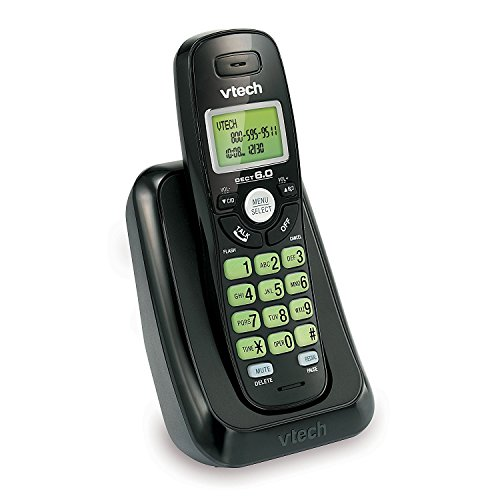 VTech VA17141BK Dect 6.0 Cordless Phone with Caller Id, Wall-Mountable, Black