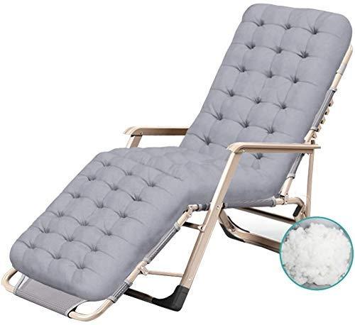 WDHWD - Silla reclinable para exteriores, silla reclinable, silla de jardín, al aire libre, silla relajante, fundas de cojín reclinables, silla de exterior Zero Gravity