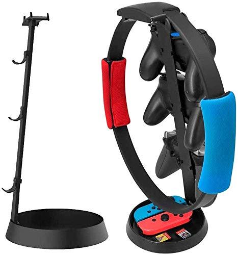 Switch 用 ゲームコントローラー収納ラックゲーム機スタンド 、リングフィット 縦置き収納き ヘッドフォン/ハンドル/ジョイコンおよびその他の小型アクセサリー 金属製コントローラーハンガー Xbox One/PlayStation PS4