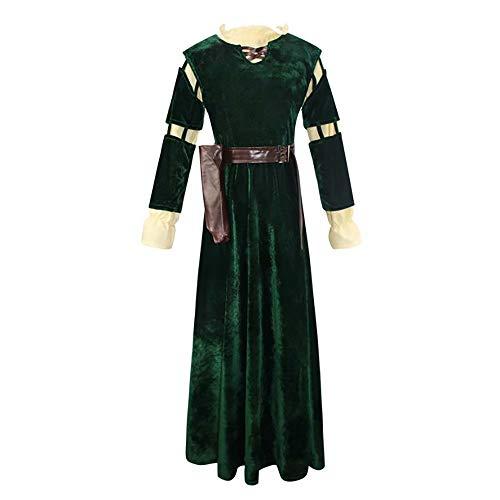 Amatop Brave Princess Cosplay Kostüm Damen Merida Cosplay Kostüm Kleid und Köcher Halloween Princess Cosplay Kostüm