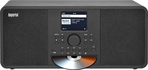 IMPERIAL DABMAN i205 CD Internetradio/DAB+ (Stereo Sound, UKW, CD Player, WLAN, LAN, Bluetooth, Streamingdienste (Spotify, Napster UVM.) inkl Netzteil) schwarz