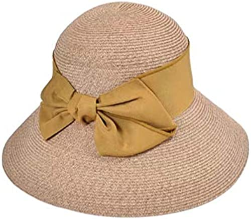 minorista de fitness JIGAN Sombrero Opcional Arco de Paja Sombrilla Grande Grande Grande Plegable Sol UV Projoección Solar Plegable,amarillo  al precio mas bajo