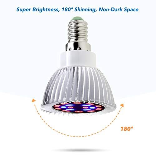LED Pflanze Wachsen Licht, Innen- Das Ganze Spektrum Die Glühbirne Erleuchtung Drehbar Schalter E27
