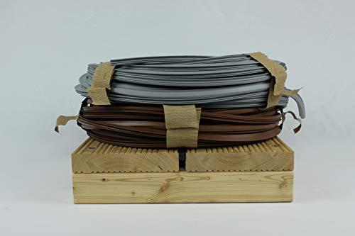 Holz-Service-24 Terrassenfugenband mit Antidehnungsfaden, Fugendichtband für Terrassendielen, Terrassenabdichtung, beständig gegen Terrassenöl, UV Strahlung, Ozon & Nässe, (7-10mm, 25m, Hellgrau)