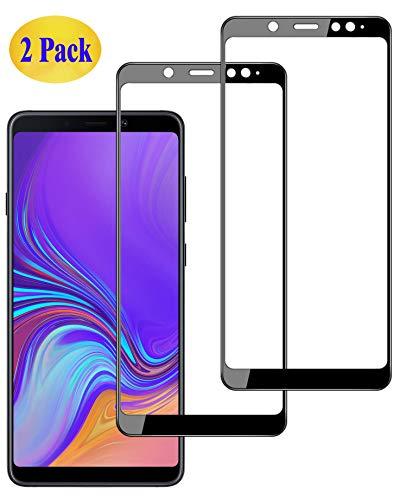 Eachy Verre Trempé Samsung Galaxy A9 2018 Film Protection,[2 Pièces] Samsung Galaxy A9 2018 (SM-A920) Protection Ecran Couverture Complète Protecteur d'écran 6,3 Pouces Bord à Bord 0.33mm-Noir
