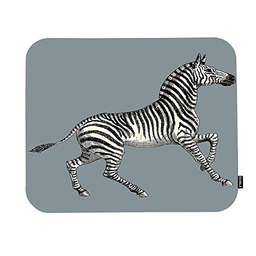 Zebra Mouse Pad African Safari Wildlife Farmhouse Animal Print Stripes Funny Adorable Gaming Mouse Mat Non-Slip Rubber Base Thick Mousepad for Laptop Computer PC 9.5x7.9 Inch 11.8-inch by 9.85-inch