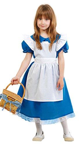 Costume Alice nel paese delle meraviglie carnevale bambina TG. 5-6 ANNI
