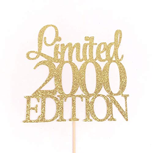 Limited 2000 Edition Cake Topper, Birth Year Cake Topper, 20th Birthday Cake Topper, Twenty Cake Topper, 20 Cake Topper, 20 Birthday Sign