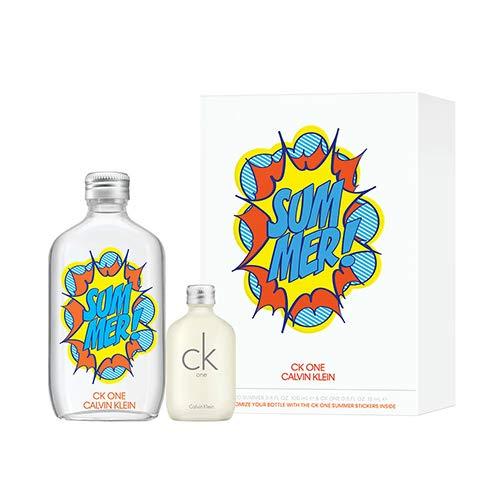 Calvin Klein One Summer 2019 - Set de regalo, 100 ml + 15 ml