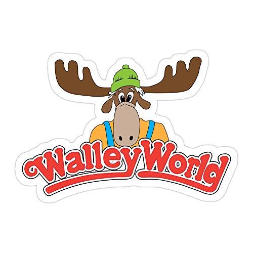 MONKEYSTYLE (3 Pcs/Pack) Walley World Die-Cut Stickers Decals for Laptop Window Car Bumper Helmet Water Bottle