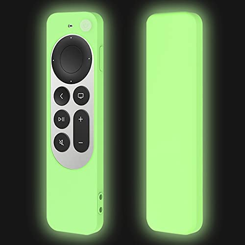Green Remote Cover Case Replacement for New Apple 4k TV Series 6 / 6th Generation 2021 Siri 2nd Remote, Silicone Shockproof Protector Skin Glow in Dark – LEFXMOPHY