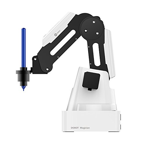 Dobot Magician Educational Robot for STEAM, K12 & Advanced with Curriculum, Robot Arm Kit 4-axis with Dual 3D Print, Laser Engrave, Write & Draw, Pick & Place Heads - Educational Version