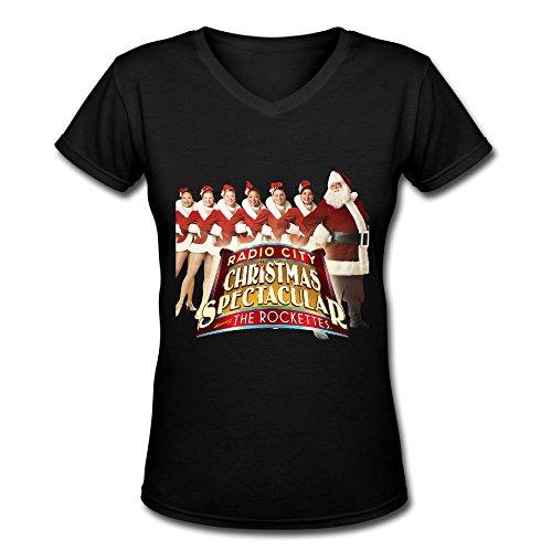 Best V Neck T Shirt For Women Hot Show Christmas Spectacular Rockettes 2016
