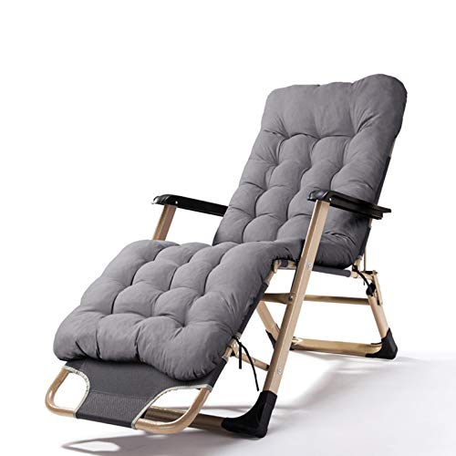 HAOLIN Liegende Schwerelosigkeitsstühle Klappbares Tragbares Design Entspannungsstuhl Sonnenliege Für Den Balkongarten Zu Hause,Gray
