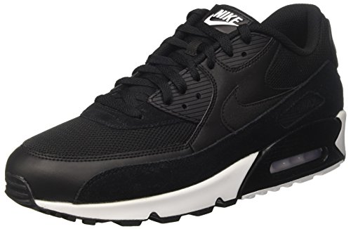 Nike Herren Air Max 90 Essential Low-Top, Schwarz (Black/Black/White 077), 42 EU