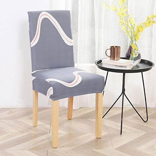 PCSACDF stoelhoezen, spandex, strepen, bloemendruk, stoelbedekking eetkamer, stretch, elastische universele stoelbekleding voor keuken en thuis Universal 10-fashion