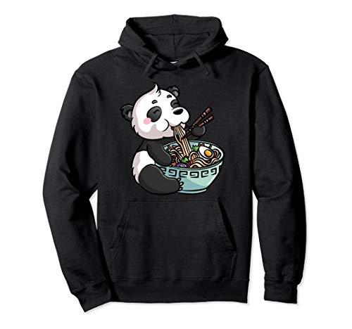 Ramen Panda Bär Kawaii Japanische Nudeln Anime Geschenk Pullover Hoodie
