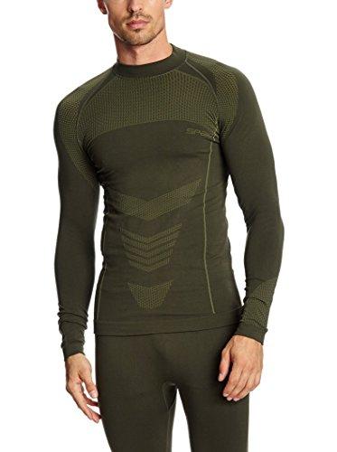 SPAIO Survival T-Shirt Manches Longues Hommes, Kaki, XXL