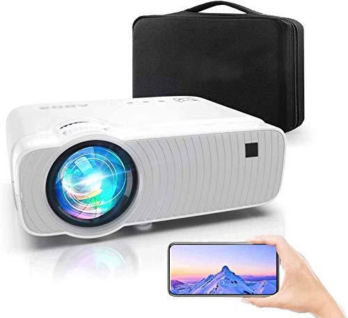 Proyector Full HD mini proyector portátil para cine en casa,White