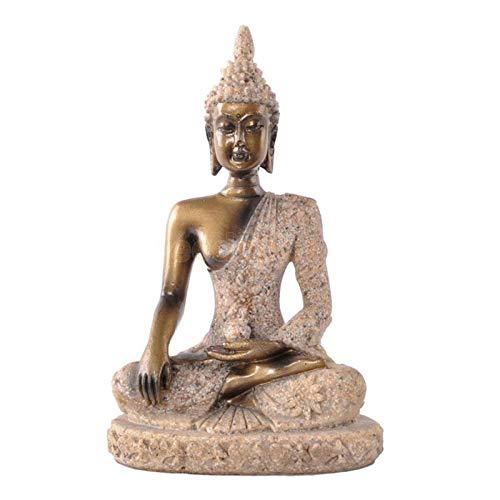 LANGU TECHNOLOGY Vintage Hand Carved Sand Stone Hindu Tribal God Joss Buddha Statue Figurine