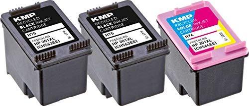 KMP Druckerpatrone Kompatibel HP 301XL Tintenpatrone für HP Deskjet 1000, 1010, 3000, 1050, 1050A, 1510, 2050, 2050A, 2510, 2540, 3050, 3050A, 3055A, HP Officejet 2620, 4630 - Farbig/Color Printer