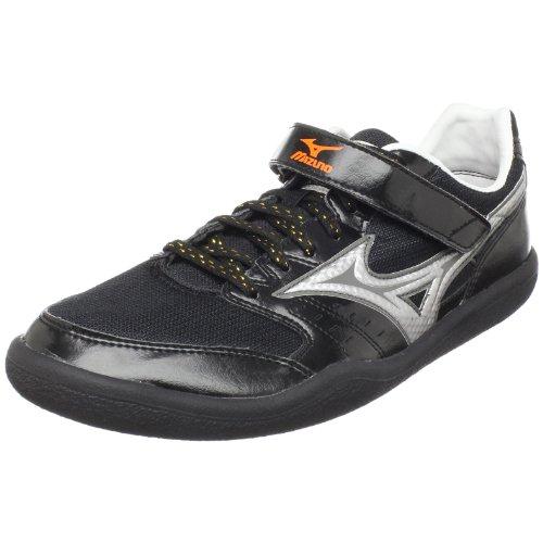 Mizuno Unisex Shot & Discus Track Footwear,Anthracite/Silver-Red Orange,US Women's 16.5/ US Men's 15 M