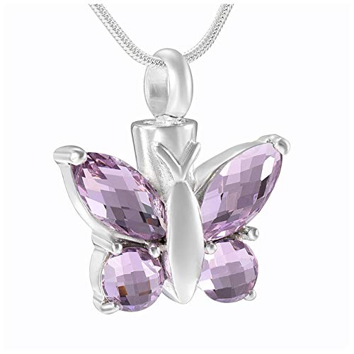 Keepsake Pendant Butterfly Charm Women Accessories Jewelry Cremation Necklace Funeral Jewelry Murano Glass Locket Pendants