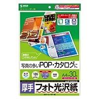 (まとめ)サンワサプライ カラーレーザー用フォト光沢紙・厚手 LBP-KAGNA4N【×5セット】
