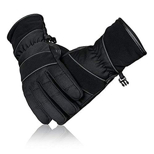 Sparx Sports Herren Winterhandschuhe, winddicht, Radfahren, Skifahren, Eislaufen, Snowboarden, Thermo-Thinsulate & Hipora-Futter warme Handschuhe - Schwarz - XL