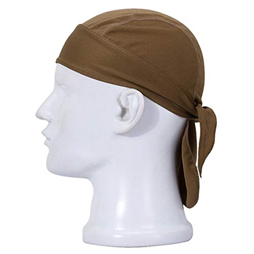 wsloftyGYd Headwear Outdoor Cycling Cap Pirate Hat Headband Breathable MTB Bicycle Riding Headscarf - Sand Color