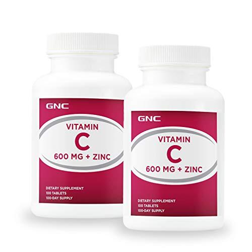 GNC GNC Vitamin C 600mg + Zinc - Twin Pack