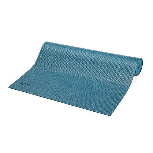 Bodhi Yoga-Matte ASANA aus PVC, schadstofffrei, rutschfest, waschbar, perfekt für Einsteiger, Fitness- und Pilates-Matte, 183 x 60 cm, 4 mm, petrol