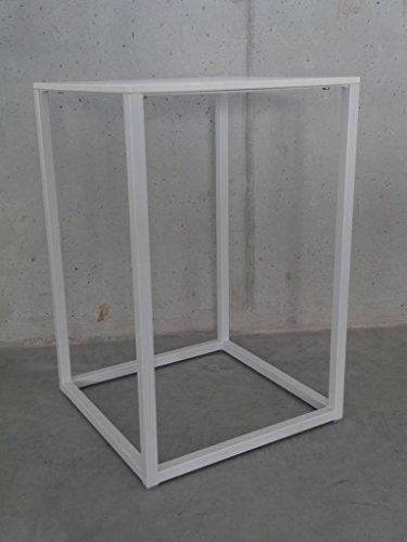 Pedrali Tavolino Code Beistelltisch 40x40xh60cm, Platte weiß Laminat HPL Gestell Stahl Weiss lackiert
