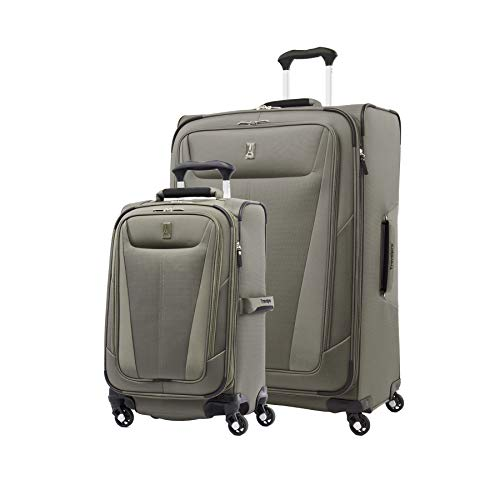 Travelpro Maxlite 5-Softside Expandable Spinner Wheel Luggage, Slate Green, 2-Piece Set (21/29)