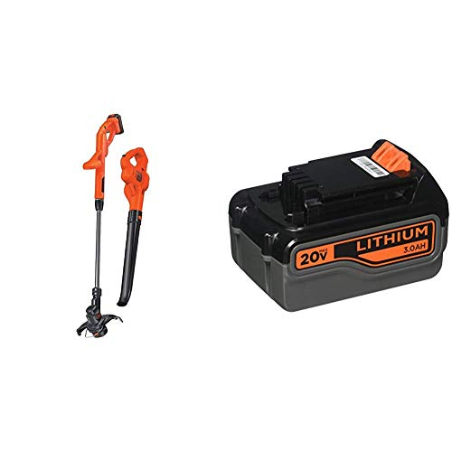 Buy Discount BLACK+DECKER 20V MAX Lithium String Trimmer/Edger Plus Sweeper Combo Kit with Extra Lit...
