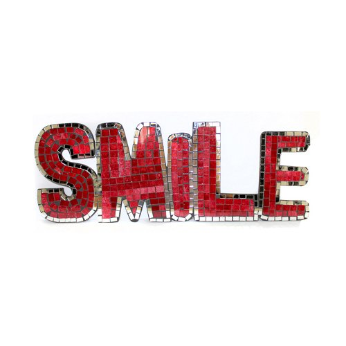 Mosaic Word - Smile -Red