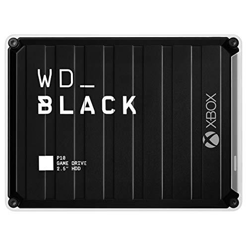 WD_BLACK 5 TB P10 Hard Disk per Xbox, Disco Rigido Esterno Portatile con Licenza Xbox Game Pass di 1 Mese