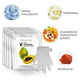 5 par de valores hidratación guantes - Máscaras natural y original de la papaya hidratan...