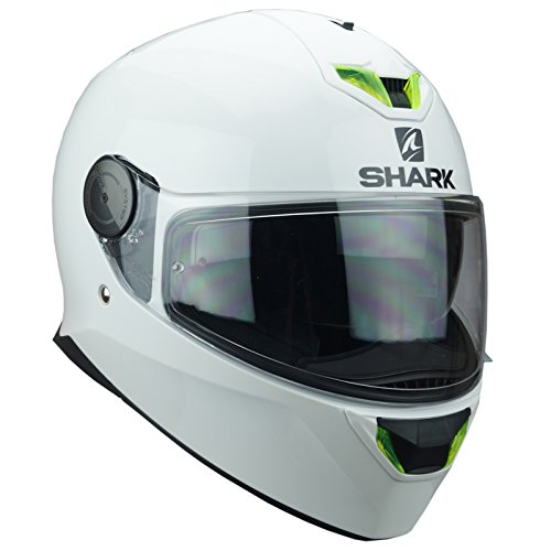 Shark Casque Moto D-SKWAL BLANK WHU, Blanc, Taille XS