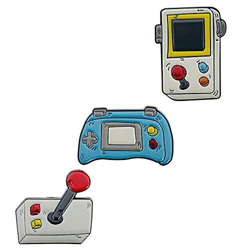 3 broches para consola de juegos y consolas de juegos infantiles con insignias para bolsas de ropa, mochilas y chaquetas