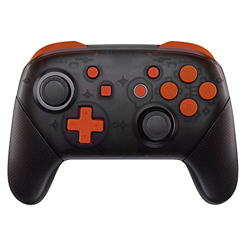 eXtremeRate Orange Repair ABXY D-pad ZR ZL L R Keys for Nintendo Switch Pro Controller, Glossy DIY Replacement Full Set Buttons with Tools for Nintendo Switch Pro - Controller NOT Included