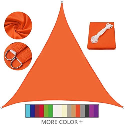 Nevy - Esterno Triangolare Vela Ombreggiante Tenda a Vela, 98% Protezione UV Vela Tenda, Impermeabile per Esterni, Cortile, Giardino,Campeggio (Color : Orange, Size : 3X3x3M)