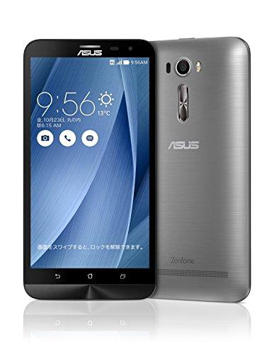 {エイスース SIMフリースマートフォン ZenFone 2 Laser(Qualcomm Snapdragon S616/メモリ 3GB)32GB グレー ZE601KL-GY32S3}